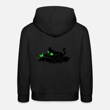 Panther Playing Panther - Kinder Premium Hoodie