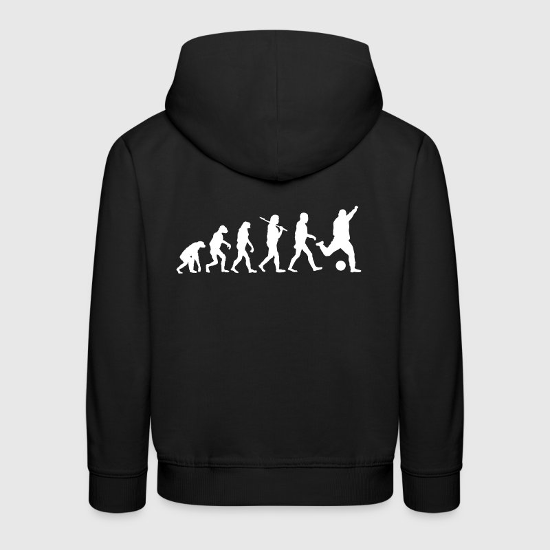 Soccer Football Human Evolution - Kids' Premium Hoodie