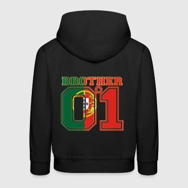 brother brother brother 01 partner PORTUGAL portugese - Kids' Premium Hoodie