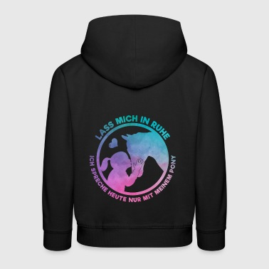Horse Lover Horsewoman Loves Her Pony Gift - Kids' Premium Hoodie