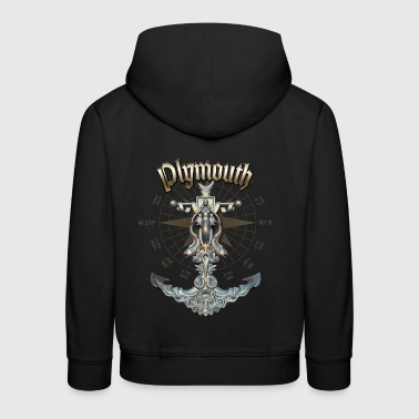 Plymouth Anchor Nautical Sailing Boat Summer - Kids' Premium Hoodie