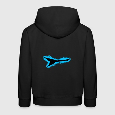 Guitar Rock Light Blue and Black Outline - Kids' Premium Hoodie