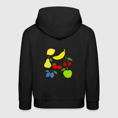 Fruit - Seven fruits as a drawing - Kids' Premium Hoodie