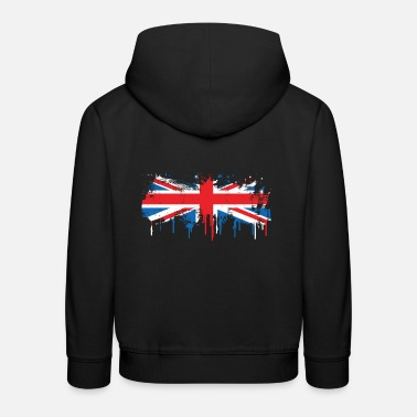 Union Jack Flag melts flowing fresh color gift - Kids' Premium Hoodie