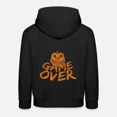 Game Over Game Over Gaming Halloween - Pull à capuche Premium Enfant