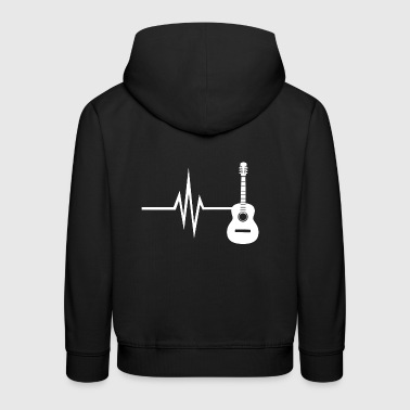 My heart beats for guitar - instrumental music - Kids' Premium Hoodie