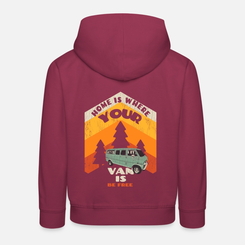 Home is where your van is Kids  Premium Hoodie   Spreadshirt 5b2dbf98cd