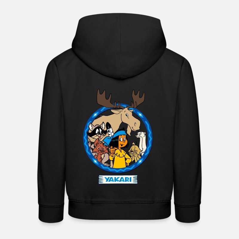 Noël Sweat-shirts - Yakari un groupe d'animaux Pull  - Sweat à capuche premium Enfant noir