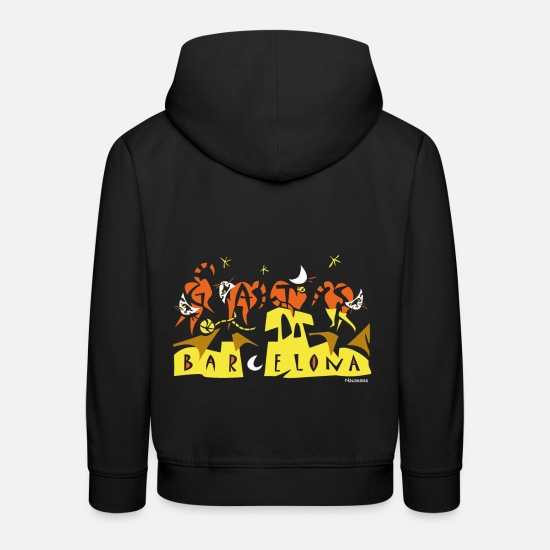 Barcelona Hoodies & Sweatshirts - Modernist Art Barcelona - Kids' Premium Hoodie black