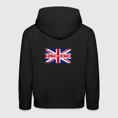 Plymouth Shirt Vintage United Kingdom Flag T-Shirt - Kids' Premium Hoodie