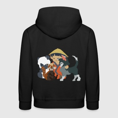 Little asian child - Kids' Premium Hoodie