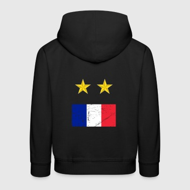 Champion du monde de football France - Pull à capuche Premium Enfant