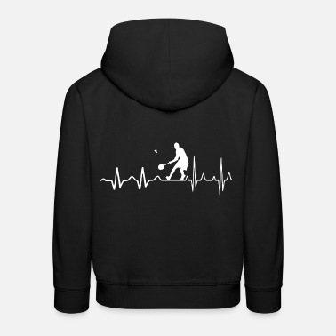 Badminton Sports Shirt • Badminton Heartbeat • Gift - Kids' Premium Hoodie
