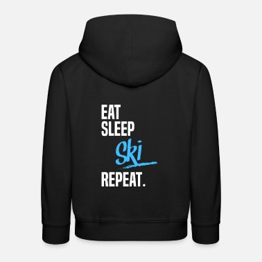 EAT SLEEP ski - Lasten premium huppari