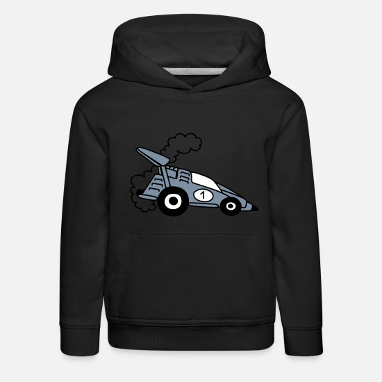 Bestsellers Q4 2018 Sweat-shirts - Voiture de course - Sweat à capuche premium Enfant noir