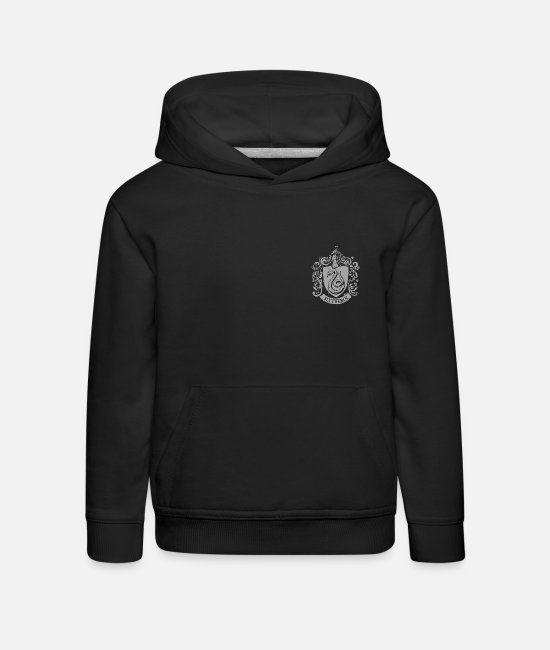 Official License Sweatshirts & hættetrøjer - Harry Potter Slytherin Coat of Arms small - Premium hættetrøje til børn sort
