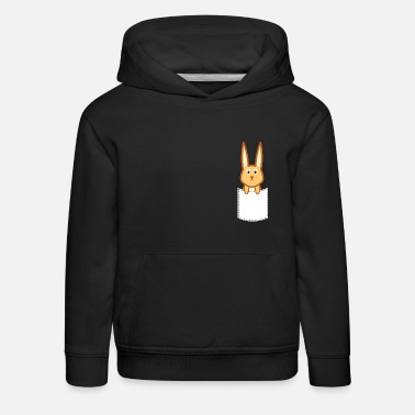 Rabbit looks out of the bag - rabbit design - Kids' Premium Hoodie