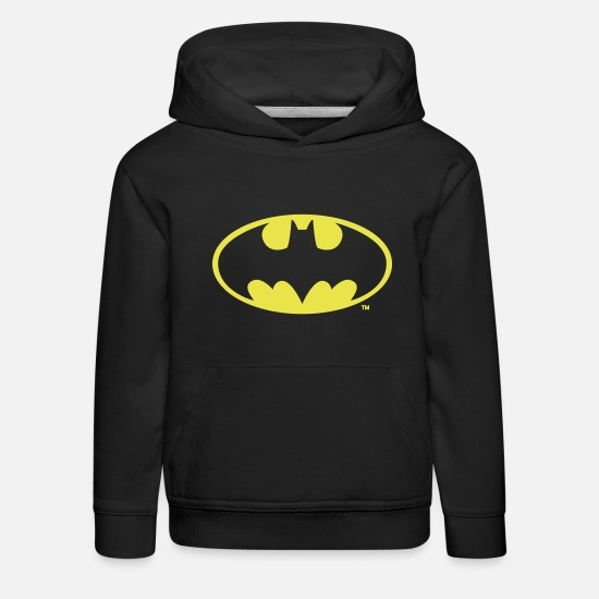 Superhelden Pullover & Hoodies - DC Comics Batman Logo in gold-metallic Optik - Kinder Premium Hoodie Schwarz