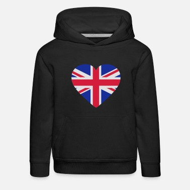 Uk Underwear Heart Britain - Kids' Premium Hoodie