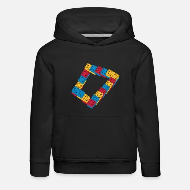 Geek optical illusion - endless steps - Kids' Premium Hoodie