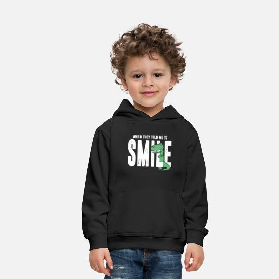 Gift Idea Hoodies & Sweatshirts - Dino dinosaur smile laugh teeth gift - Kids' Premium Hoodie black