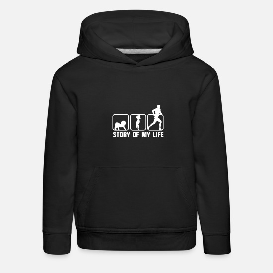 Gift Idea Hoodies & Sweatshirts - Running athlete - Kids' Premium Hoodie black