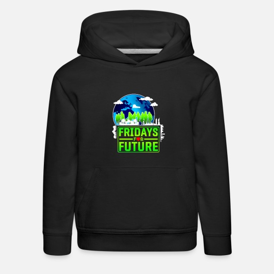 Earth Hoodies & Sweatshirts - Fridays for future - Kids' Premium Hoodie black
