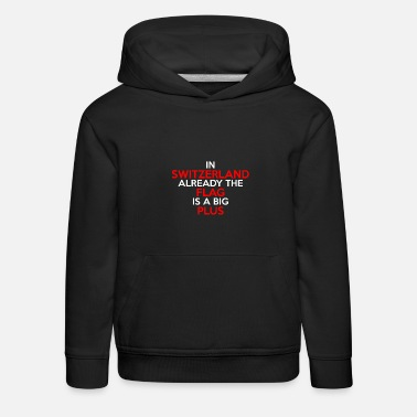 1st Birthday Switzerland Tourist Zurich Bern Basel funny flag - Kids' Premium Hoodie
