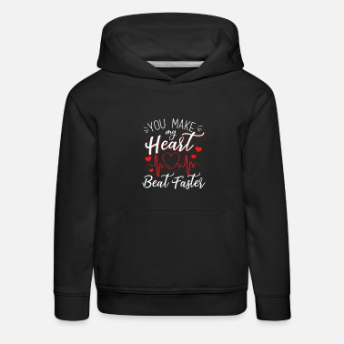 Bauch You Make My Heart Beat Faster - Kinder Premium Hoodie