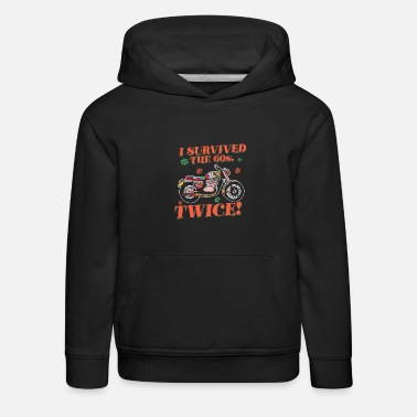 I Survived The 60s Twice 60th Birthday Hippie - Kids' Premium Hoodie