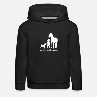 Ross cute horse gift horses ride pony - Kids' Premium Hoodie
