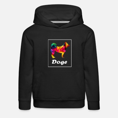 Doge Dog Couleur - Sweat à capuche premium Enfant