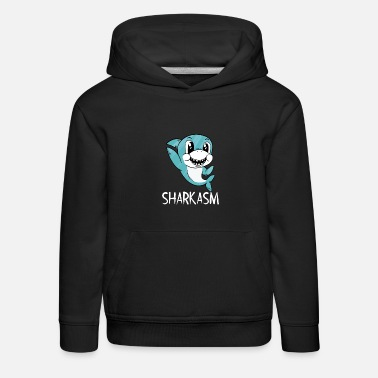 Sharkasm shark funny saying sarcasm - Kids' Premium Hoodie