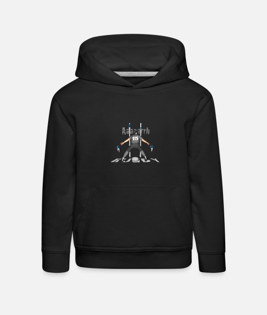 Lyon Rugby Toulousain Hoodies & Sweatshirts - RUGBY 15 players gray - Kids' Premium Hoodie black