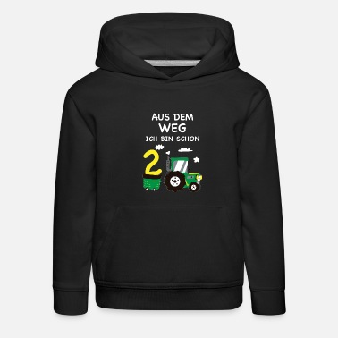 Tractor 2 Year Old Children 2nd birthday tractor 2 years gift boy - Kids' Premium Hoodie