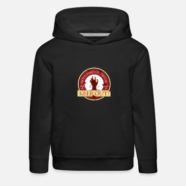 Logo Zombies Zombie Outbreak Badge Logo Design - Kids' Premium Hoodie