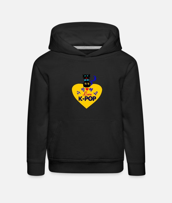 Love Korea Koreans Hangeul Hansik Kpop Seoul I Like Korean Girls Korean Guys I Left My Heart In Kore Hoodies & Sweatshirts - ♥♫I Love Kpop-Saranghaeyo KPop-Kpopholic♪♥ - Kids' Premium Hoodie black