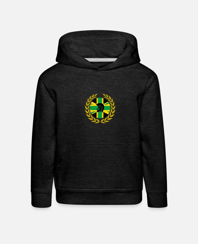 Ska Punk Hoodies & Sweatshirts - UNITY JAM SKA LAUREL DESIGN - Kids' Premium Hoodie charcoal grey