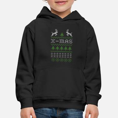 Ugly X-mas ugly sweater design for red - Kids' Premium Hoodie