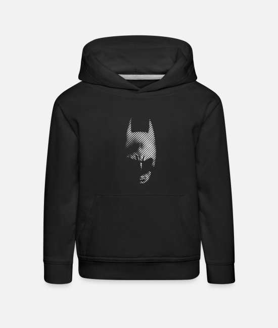 Superhero Tröjor & hoodies - Batman black & white T-shirt herr - Premium hoodie barn svart