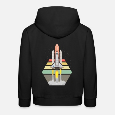 Missile Astronomy Space Shuttle Space Shuttle Start Stripes - Kids' Premium Hoodie