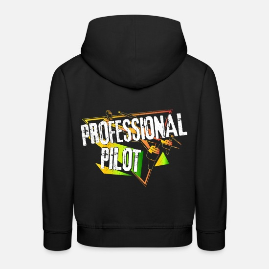 Gift Idea Hoodies & Sweatshirts - Drone pilot retro - Kids' Premium Hoodie black