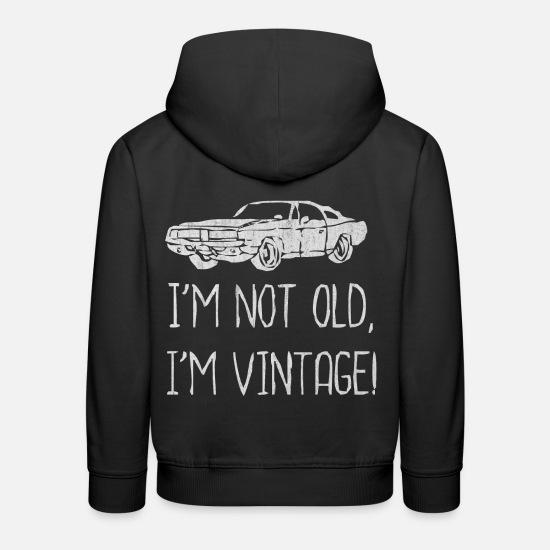 c69358a5 Vintage Gensere & hettegensere - Vintage bil, vintage - Premium hettegenser  barn svart