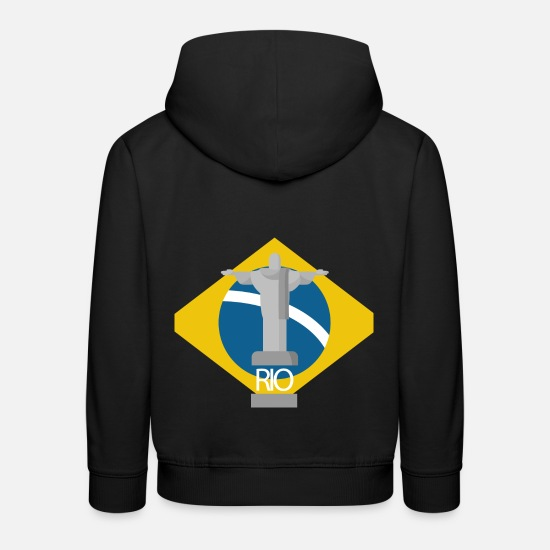 Birthday Hoodies & Sweatshirts - Rio flag - Kids' Premium Hoodie black
