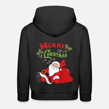 ee18fe25f85ac Tema de navidad santa claus navidad santa - Sudadera con capucha premium  niño