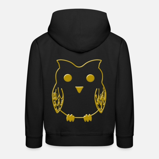 Night Owl Hoodies & Sweatshirts - Owl owl owl bird of prey bird - Kids' Premium Hoodie black