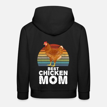 Coq Best Chicken Mom Poulets Coq Poule - Sweat à capuche premium Enfant