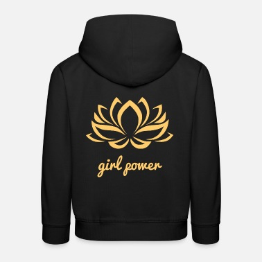 Girl Power Girl Power Yoga Lotus Flower Power Girl Power Girl - Premium bluza z kapturem dziecięca
