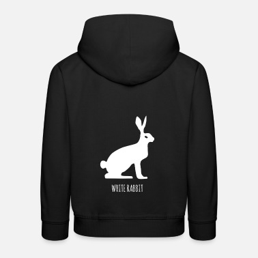 Lapin blanc, lièvre des neiges, fable - Sweat à capuche premium Enfant