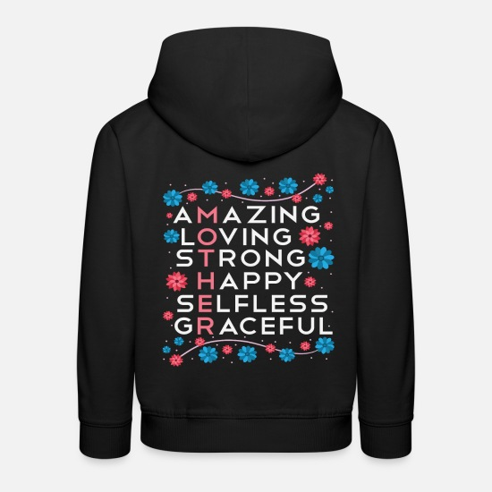 Love Hoodies & Sweatshirts - Mother's day sayings parents recognition gift - Kids' Premium Hoodie black